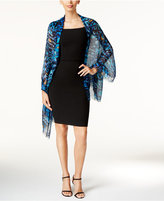 INC International Concepts Printed Peacock Wrap, Only at Macy's