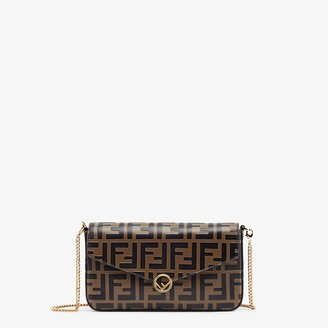 Fendi Wallet On Chain With Pouches