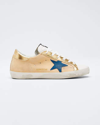 Golden Goose Superstar Gold Leather Low-Top Sneakers