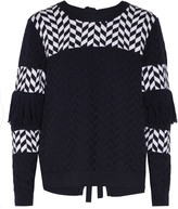 Tanya Taylor Faye cutout fringed cotton-blend sweater