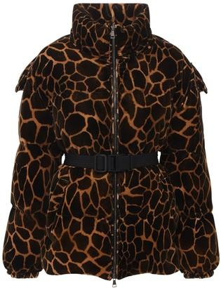 Moncler Kundogi Printed Velvet Down Jacket