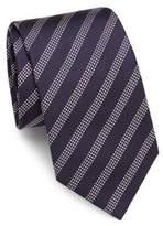 Brioni Striped Raw Silk Tie