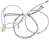Unwritten Gold-Tone 3-Pc. Set of Bead & Cord Slider Bracelets