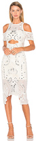 Thurley Wild Heart Midi Dress in Ivory. - size 10/M (also in )