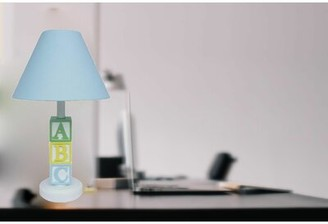 """Creative Motion ABC Character 17"""" Table Lamp Creative Motion Color: Blue"""