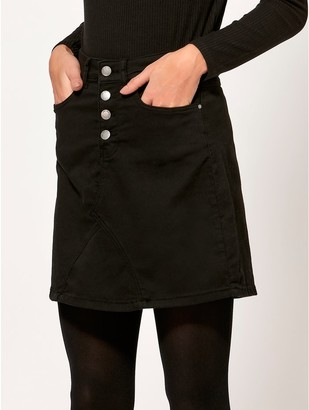 M&Co JDY button front skirt