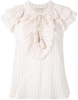 Ulla Johnson striped ruffle blouse - women - Cotton - 2