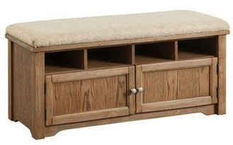 Darby Home Co Shept Mallet Wood Storage Bench Color: Brown/Beige