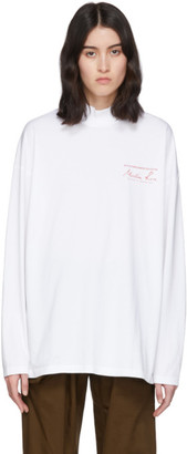 Martine Rose White Funnel Neck T-Shirt