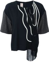 Antonio Marras fringed patterned top