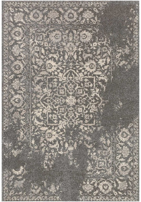 """Loloi Rugs Easy Care, Stain/Fade Resistant Emory Area Rug, Charcoal & Ivory, 7'7"""""""