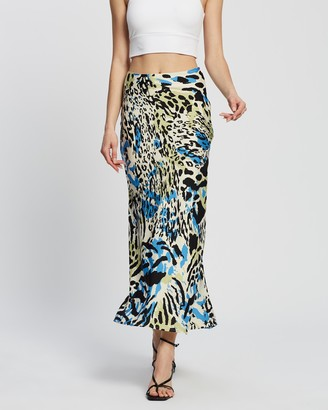 Dazie - Women's Yellow Midi Skirts - Game Changer Midi Skirt - Size 6 at The Iconic