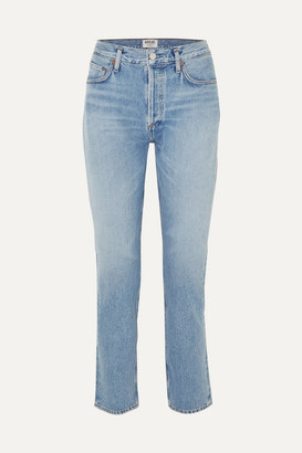 A Gold E Agolde AGOLDE - Remy High-rise Straight-leg Jeans - Light denim
