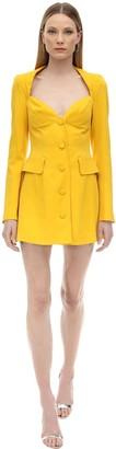 Marianna Senchina Viscose Crepe Bustier Jacket Dress