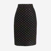 J.Crew Factory Lurex® dot jacquard pencil skirt