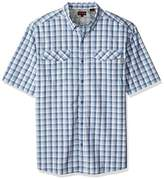 Wolverine Men's Big and Tall Pentwater Vented Back Plaid Short Sleeve Shirt