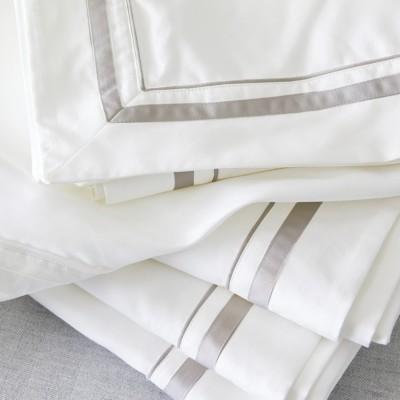 The White Company Cavendish Flat Sheet, White Mink, Double