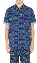 "Givenchy MEN'S ""NEW MONOGRAM\"" COLUMBIAN POLO SHIRT-NAVY SIZE L"