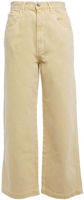 Nanushka Marfa Embellished High-rise Wide-leg Jeans