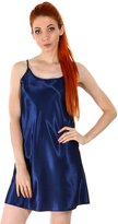 Simplicity Women's Sexy Sleepwear Satin Nightgown Silk Chemise Slip Dress