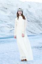 Shabby Apple Crystal Lace Maxi Dress Cream