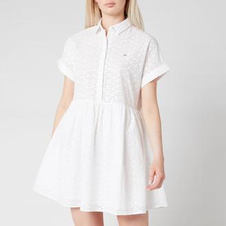 Tommy Jeans Women's TJW Shiffli Shirt Dress