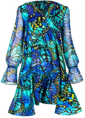 Cosel Luxury Butterfly Silk Dress
