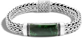 John Hardy Men's Classic Chain 11MM Station Bracelet in Sterling Silver, Black Sapphire