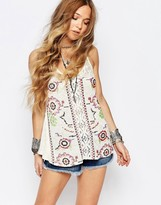 Glamorous Floral Embroidered Tank