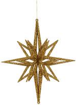 """Vickerman 12"""" 3D Glitter Star, Gold"""