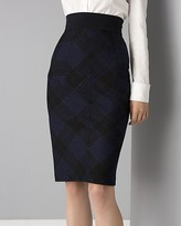 Women's Adame Glitter Plaid Pencil Skirt