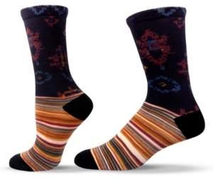 Unisox Unisex Patterned Colorful Striped Crew Socks