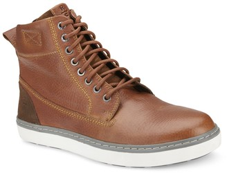 Reserved Footwear Topstitch High Top Sneaker