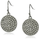"""Trina Turk Neo Goth"""" Pave Disk Drop Earrings"""
