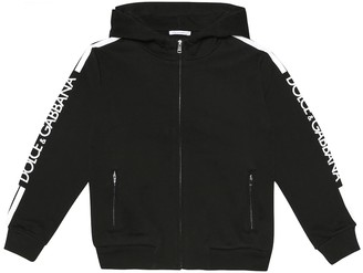 Dolce & Gabbana Kids Logo cotton hoodie