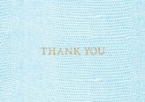 Caspari Entertaining with Lizard Thank You Notes, Pack of 8, Turquoise