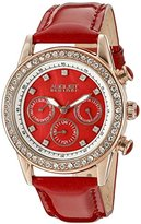 August Steiner Women's ASA818R Swiss Quartz Multi-Function Dazzling Fashion Watch