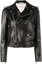 Valentino biker jacket - women - Cotton/Linen/Flax/Lamb Skin/Viscose - 40