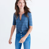 Madewell Anthem Split-Neck Tee in Kimball Stripe