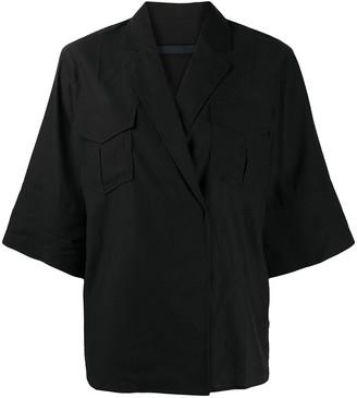 Juun.J Short Sleeve Wrap Shirt