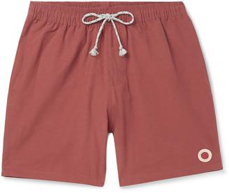 Mollusk Vacation Mid-Length Cotton-Blend Swim Shorts