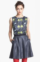 Nordstrom Miss Wu Packed Floral Print Silk Blouse Exclusive)