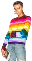 Ashish Long Sleeve Top in Blue,Green,Orange,Red,Pink,Purple,Stripes.
