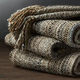 Crate & Barrel Shelby Natural Throw