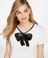 Brooks Brothers Sequined Bow Applique T-Shirt