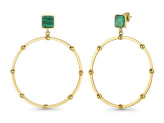 Missoma Lucy Williams Malachite Gold Chandelier Hoops
