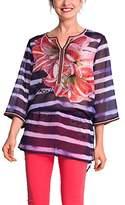 Desigual Women Estrella Loose Fit Blouse,(Manufacturer Size: 34)