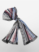 Calvin Klein Lightweight Striped Scarf