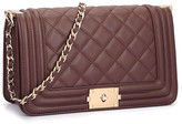 Dasein Faux Leather Quilted Crossbody