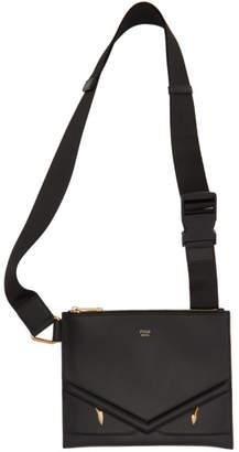 Fendi Black Slim Bag Bugs Messenger Bag
